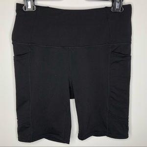 Oiselle Long Pocket Jogger Shorts Black